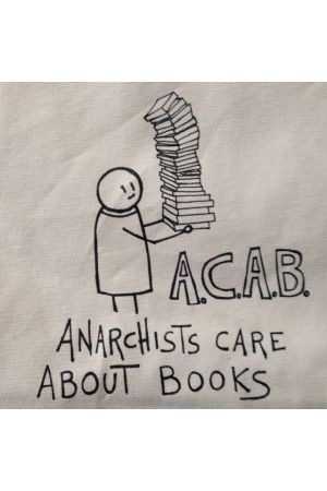 Anarchists Care About Books (A.C.A.B.) Tote Bag