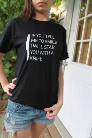 If You Tell Me To Smile... T-Shirt